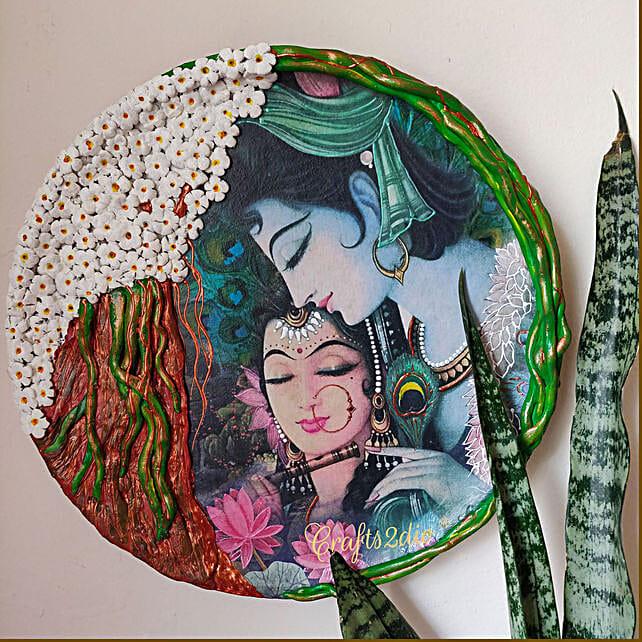 Beautiful Radha Krishna pure love  wall plate:Janmashtami Gifts