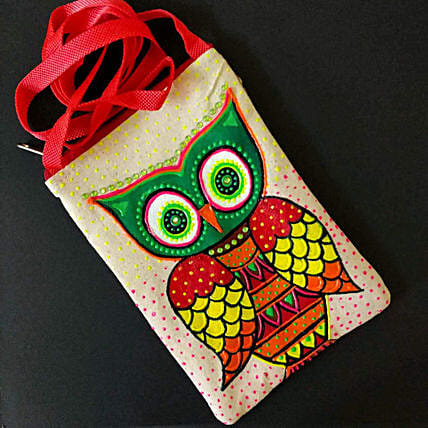 Hand Painted Owl Sling Bag:Send Unique Gifts