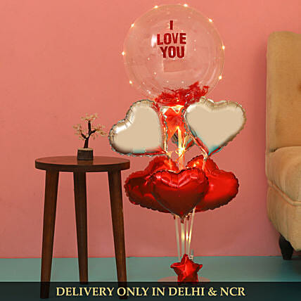 I Love You Led Balloon Bouquet And Wish Tree