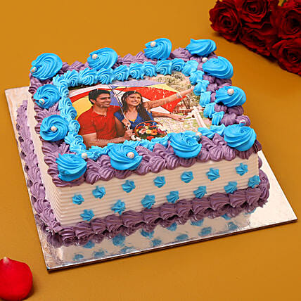 Couple Love Photo Cream Cake