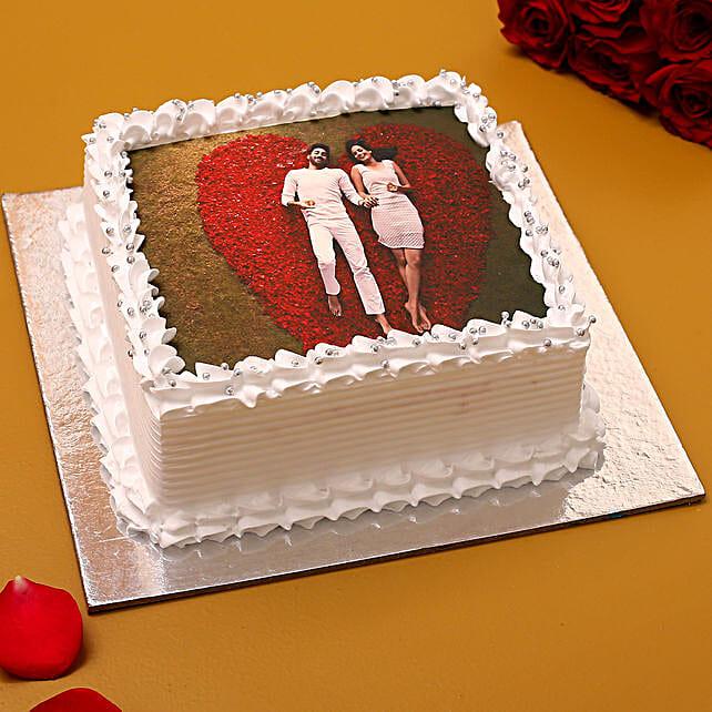 Valentine Photo Vanilla Cake:Vanilla Cakes