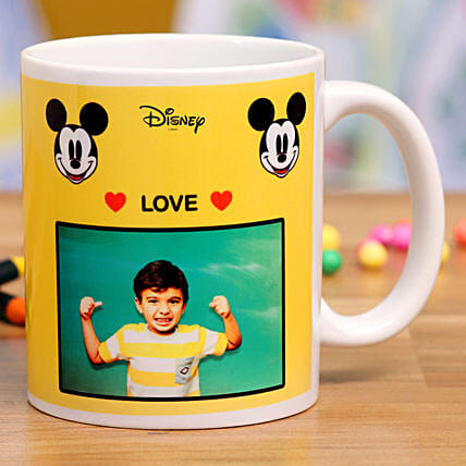 Love Mickey Mouse Personalised Mug Hand Delivery