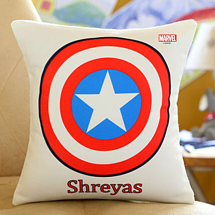 Personalised Captain America Cushion Hand Delivery