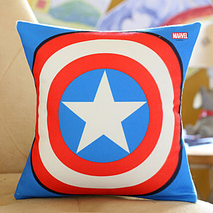 Printed Captain America Cushion Hand Delivery