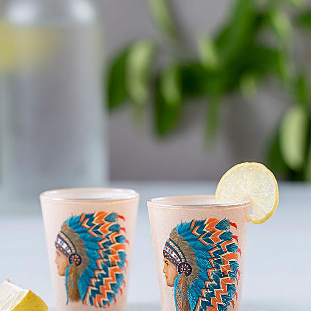 Kolorobia Dauntless Indian Male Shot Glass Set Of 2