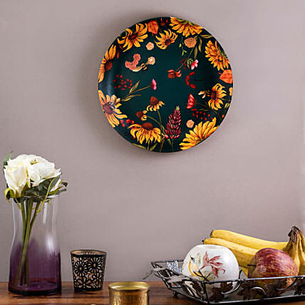 Kolorobia Floral Bliss Home Decor Wall plate:Unique Gift Ideas