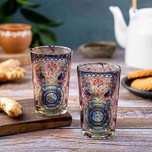 Kolorobia Turkish Fervor Chai Glass Set Of 2