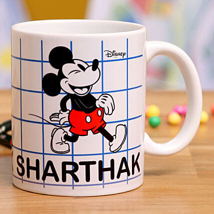 Happy Mickey Personalised Mug