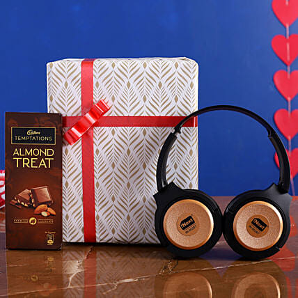 I Next Wireless Speaker Headphone And Almond Treat:Electronic Gifts