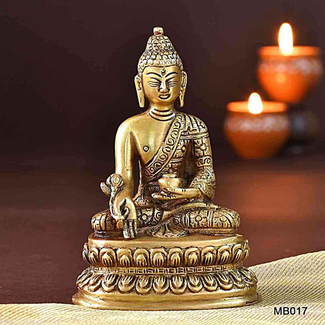 Peaceful Buddha Brass Idol