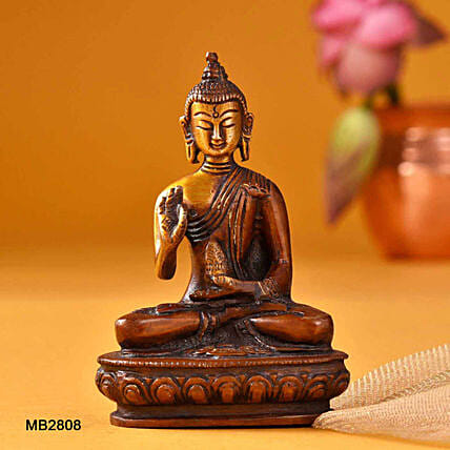Sitting Buddha Blessing Hand Idol