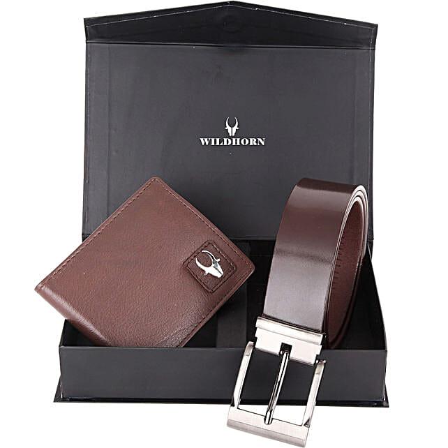 Wildhorn Classic Wallet Gift Set Brown