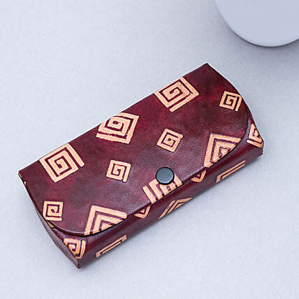 Elephant Print Leather Case For Sunglasses