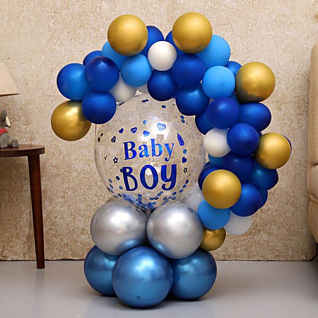 Beautiful Baby Boy Balloon Bouquet