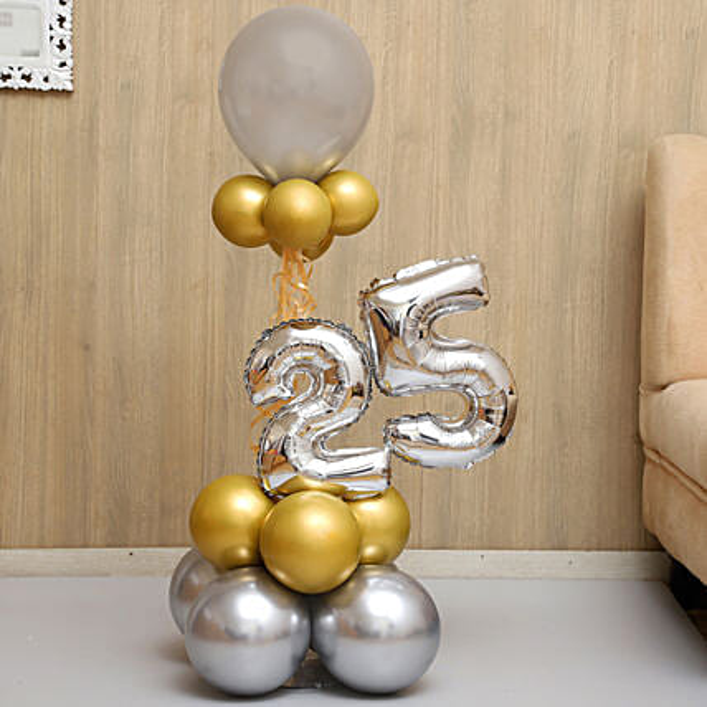 Beautifully Arranged Numeric Balloon Bouquet:balloons-bestsellers