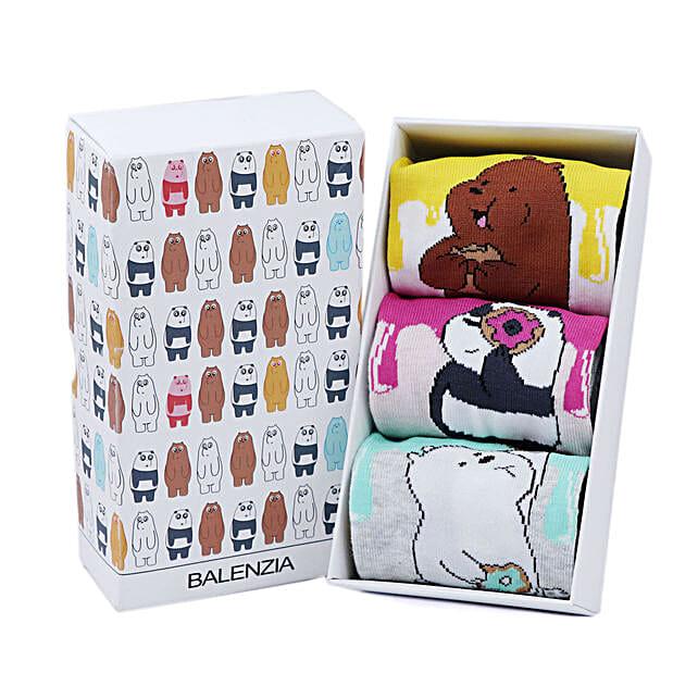 Balenzia We Bare Bears Funky Socks Pack