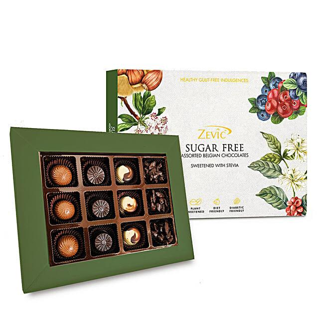 Zevic Sugar Free Assorted Chocolates Gift Pack:White Chocolates