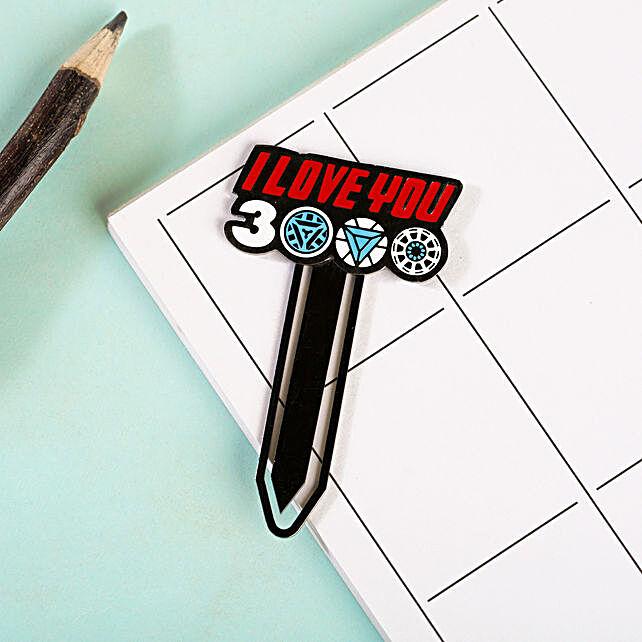 Love You 3000 Metallic Bookmark