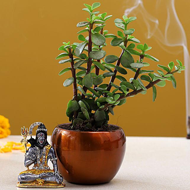 Lord Shiva Idol Jade Plant:Shivratri Gifts