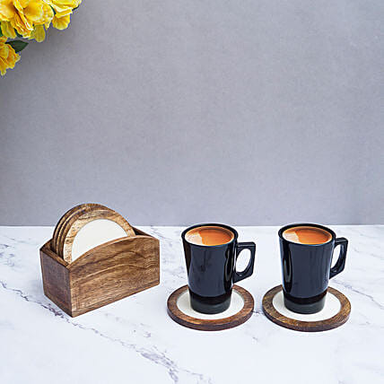 Classy Coasters with Decorative Holder
