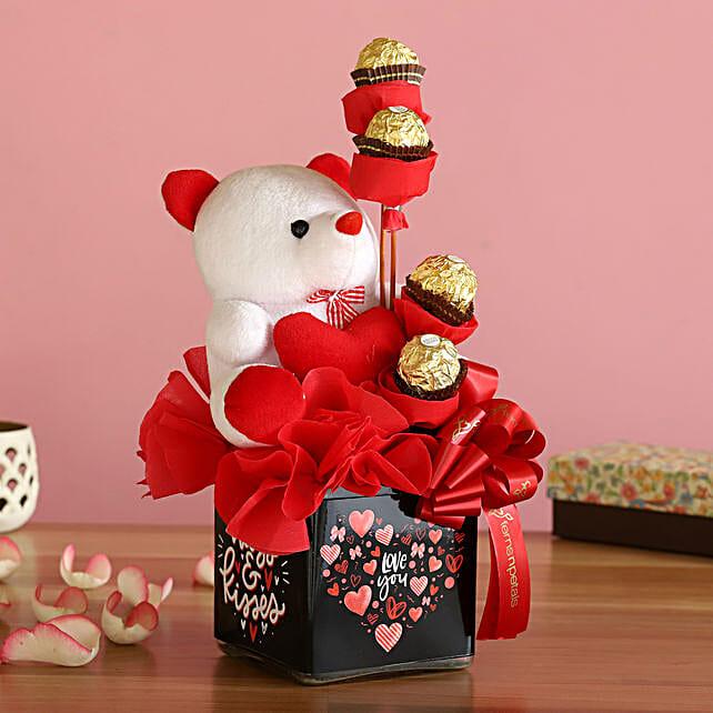Cute Teddy Rocher Arrangement