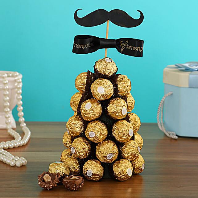 Ferrero Rocher Choco Tree For Him:Ferrero Rocher Chocolates