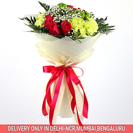 Alluring Bouquet Of Mixed Flowers