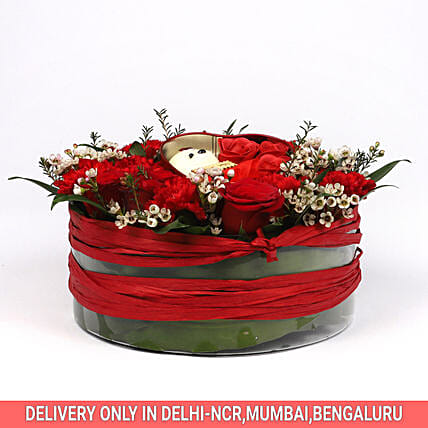 Online Floral Arrangement:Soft toys for Bhai Dooj