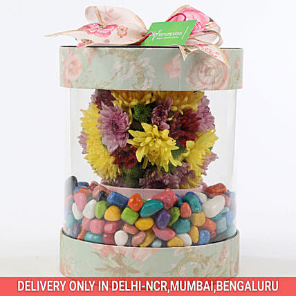 Order Online Colorful Box Of Chrysanthemums
