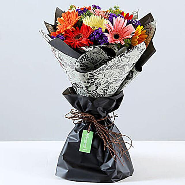 Send Online Colorful Gerbera Bouquet