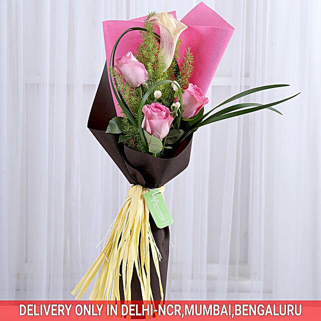 online pink floral bouquet
