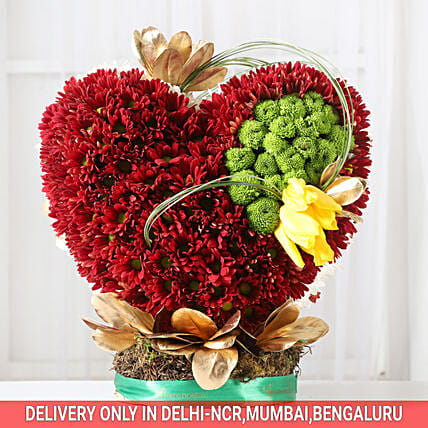 Heart Shape Floral Arrangement