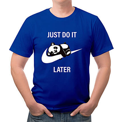 Just Do It Later Mens Drifit T shirt