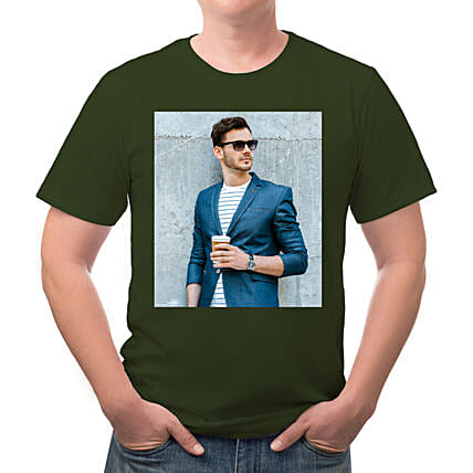 Personalised Mens Round Neck Cotton T shirt