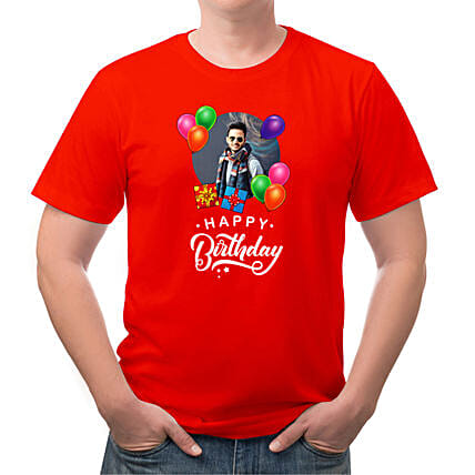 Birthday Personalised Mens Cotton T Shirt