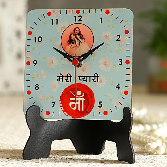 Meri Pyari Maa Personalised Table Clock