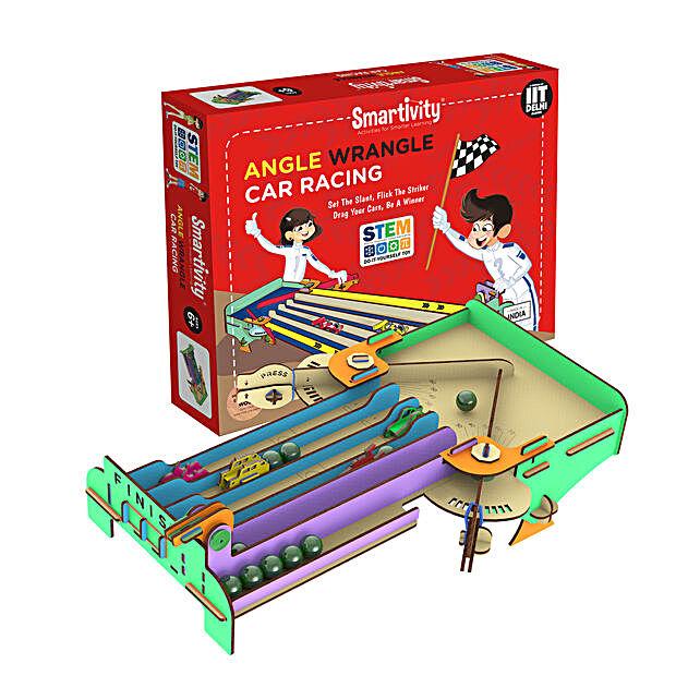 Smartivity Angle Wrangle Car Racing Game Kit