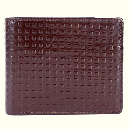 Brown Leather Omax Wallet For Men 4 Card Slots