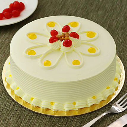 Butterscotch Cakes Half kg Eggless:Gifts for 75Th Birthday