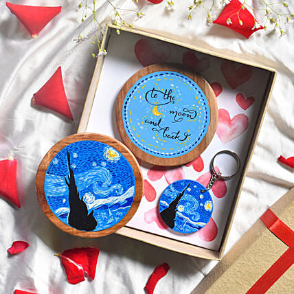 Van Gogh Inspired Coaster And Keychains