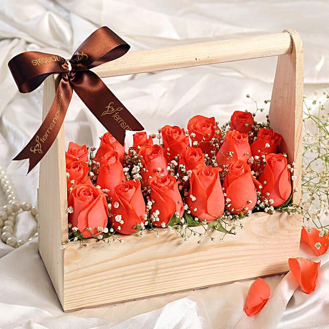 Premium Orange Roses Arrangement