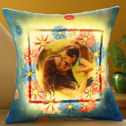 Happy Mother Day Personalised LED Cushion Hand Delivery