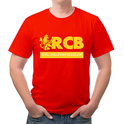 Personalised RCB Red Round Neck T Shirt