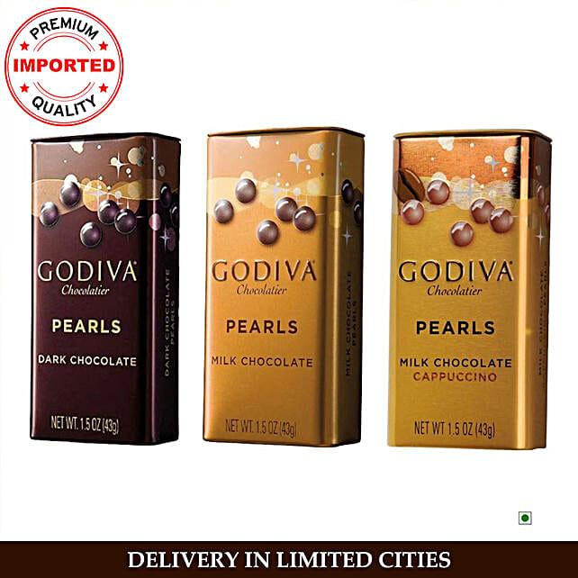 Godiva Pearls Combo 3 Tins