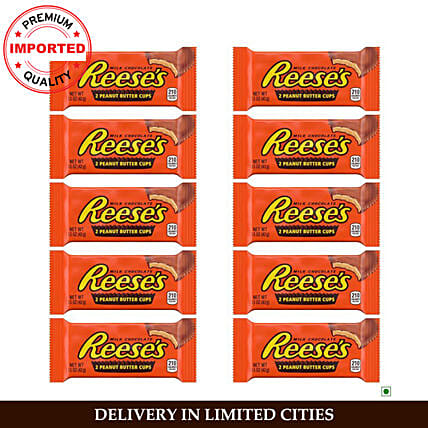 Hershey Reeses Peanut Butter Cup Pack of 10