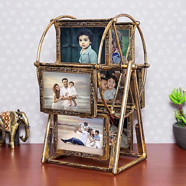 Personalised swing wheel photo frame:Premium Personalised Gifts