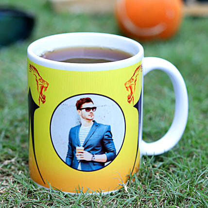 Personalised CSK Fans Ceramic White Mug Hand Delivery