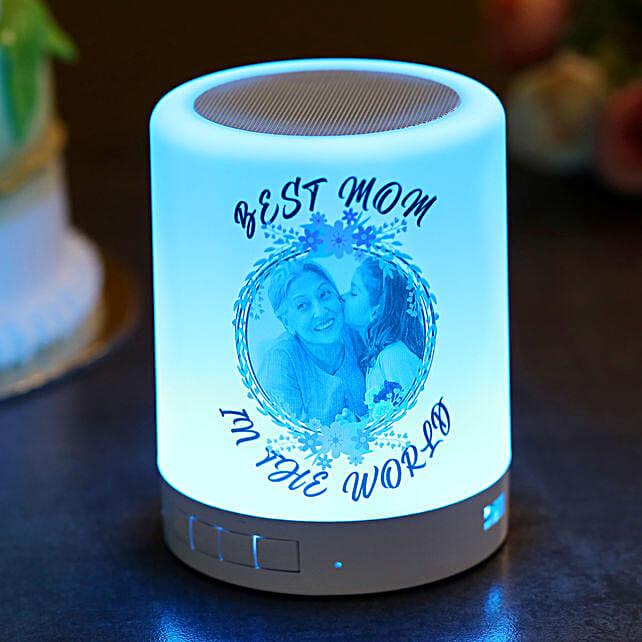 Personalised Best Mom Bluetooth LED Speaker:Personalised Speakers