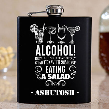 Cool Personalised Stainless Steel Hip Flask