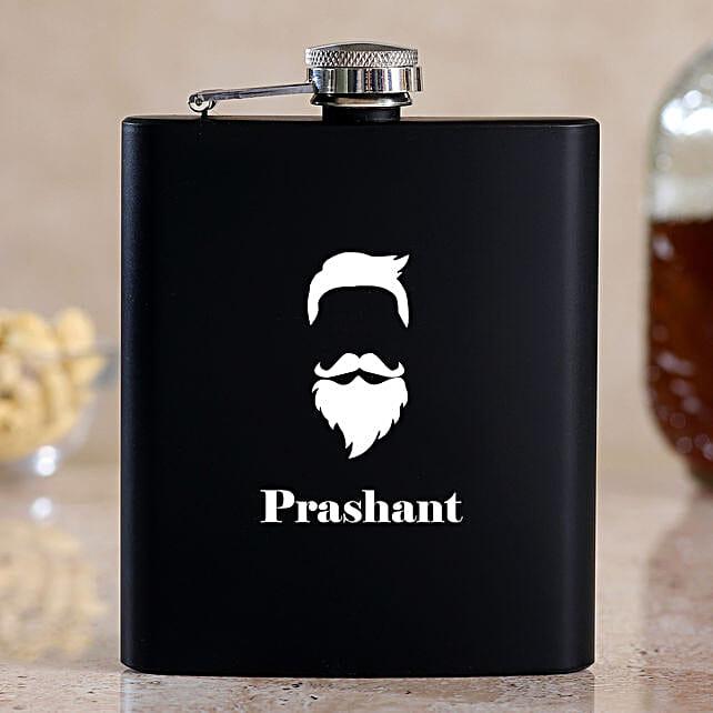 Macho Man Personalised Hip Flask:Bar Accessories